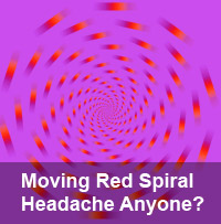 moving red spiral