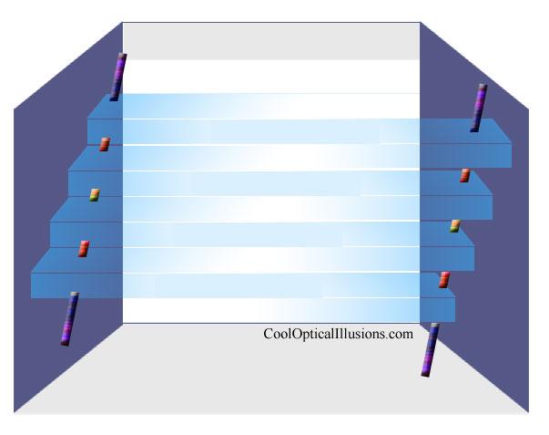 trapezoid cube 3-d optical illusion