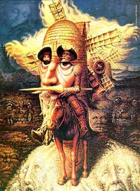 how many faces optical illusion painting