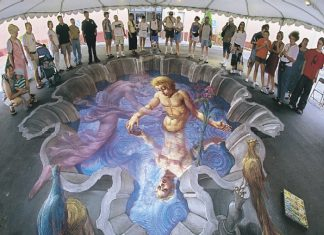 Sidewalk Chalk Artist- Etheral Pool of Water