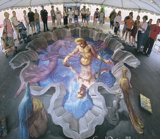 Sidewalk Chalk Artist- Etheral Pool of Water