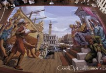 Ship at Dock- very cool 3D sidewalk art