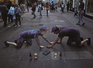 Artist-Optical Illusion Chalk Drawing