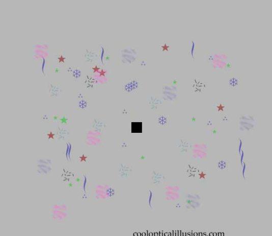 Disappearing Confetti Illusion
