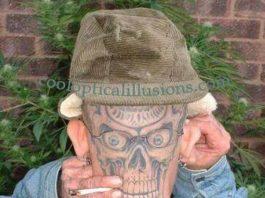 Skeleton or skull tattoo